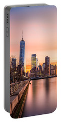 Lower Manhattan At Sunset Portable Battery Charger
