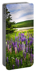 Lupin Flowers In Newfoundland Portable Battery Charger