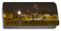 Madison New Years Eve Portable Battery Charger by Steven Ralser
