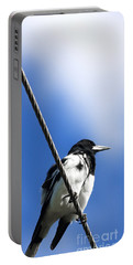 Magpie Up High Portable Battery Charger by Jorgo Photography - Wall Art Gallery