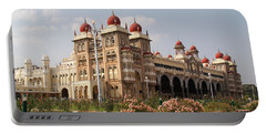 Maharaja's Palace And Garden India Mysore Portable Battery Charger by Carol Ailles