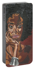 Portable Battery Charger featuring the painting Mahogany by Rachel Natalie Rawlins