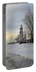 Marblehead Lighthouse Winter Sunrise Portable Battery Charger