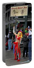 French Quarter Mardi Gras Portable Battery Charger by Luana K Perez