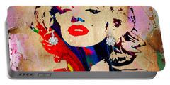 Marilyn Monroe Diamond Earring Collection Portable Battery Charger