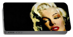 Marilyn Monroe Portable Battery Charger by Georgi Dimitrov