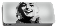 Marilyn Monroe Portable Battery Charger by Katharina Filus