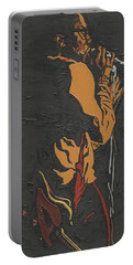 Portable Battery Charger featuring the painting Martin Luther Mccoy by Rachel Natalie Rawlins