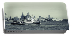 Mersey Ferry Portable Battery Charger by Spikey Mouse Photography
