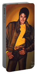 Michael Jackson Portable Battery Charger by Paul Meijering