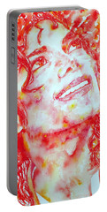 Michael Jackson - Watercolor Portrait.2 Portable Battery Charger by Fabrizio Cassetta
