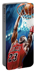 Michael Jordan Artwork Portable Battery Charger