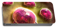 Microscopic View Of Phagocytic Portable Battery Charger