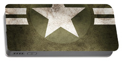 Military Army Star Background Portable Battery Charger