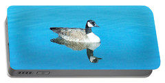 Portable Battery Charger featuring the photograph Mirror Goose by Kerri Mortenson