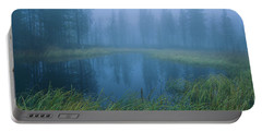 Misty Lake, Sweden Portable Battery Charger