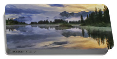 Molas Lake Sunrise Portable Battery Charger by Priscilla Burgers