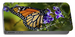 Portable Battery Charger featuring the photograph Monarch Butterfly by David Millenheft
