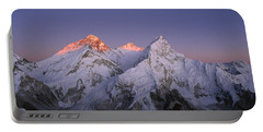 Moon Over Mount Everest Summit Portable Battery Charger