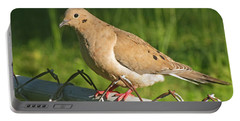 Morning Dove I Portable Battery Charger by Debbie Portwood
