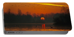 Morning Over River Portable Battery Charger