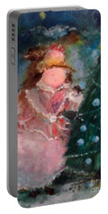 Portable Battery Charger featuring the painting Mother Christmas by Laurie L
