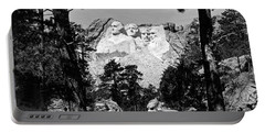 Mount Rushmore In South Dakota Portable Battery Charger by Underwood Archives