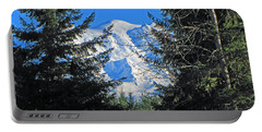 Portable Battery Charger featuring the photograph Mt. Rainier I by Tikvah's Hope