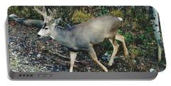 Mule Deer Portable Battery Charger by D Hackett