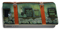 Mural On A Wall, Cancun, Yucatan, Mexico Portable Battery Charger by Panoramic Images