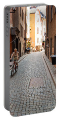 Narrow Stockholm Street Sweden Portable Battery Charger
