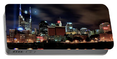 Nashville Panoramic View Portable Battery Charger by Frozen in Time Fine Art Photography