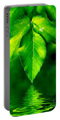 Natural Leaves Background Portable Battery Charger