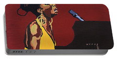 Portable Battery Charger featuring the painting Nina Simone by Rachel Natalie Rawlins