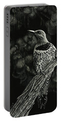 Portable Battery Charger featuring the drawing Northern Flicker by Sandra LaFaut