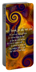 Now Thank We All Our God Portable Battery Charger by Chuck Mountain
