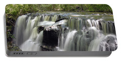 Odom Creek Waterfall Georgia Portable Battery Charger by Charles Beeler