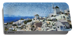 Oia Town Portable Battery Charger