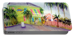 Old Key Lime House Portable Battery Charger by Donna Walsh
