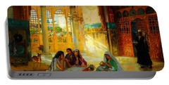 Ottoman Daily Life Scene Portable Battery Charger