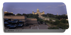 Panoramic View Of Iowa State Capitol Portable Battery Charger by Panoramic Images