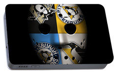 Penguins Goalie Mask Portable Battery Charger by Joe Hamilton