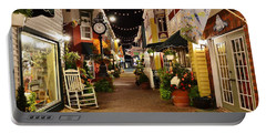 Portable Battery Charger featuring the photograph Penny Lane - Rehoboth Beach Delaware by Kim Bemis