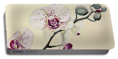 Phalaenopsis Black Panther Orchid Portable Battery Charger