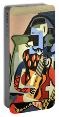Picasso's Harlequin Musician Portable Battery Charger by Cora Wandel