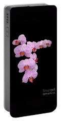 Pink Orchids Portable Battery Charger by Tom Prendergast