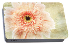 Portable Battery Charger featuring the photograph 1 Pink Painterly Gerber Daisy by Andee Design