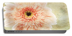 1 Pink Painterly Gerber Daisy Portable Battery Charger by Andee Design