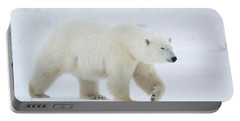 Polar Bear Ursus Maritimus Walking Portable Battery Charger by Panoramic Images