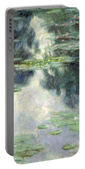 Pond With Water Lilies Portable Battery Charger